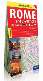 Rome and the Vatican plan miasta 1:12 000,