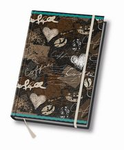 Notes A5 Art book 80 kartek w linie Coffee,