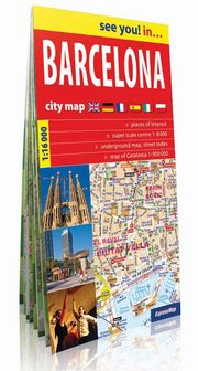 Barcelona city map 1:16 000,