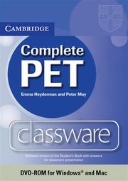 Complete PET Classware DVD, Heyderman Emma, May Peter