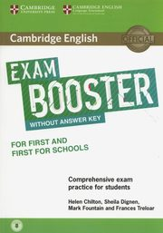 Cambridge English Exam Booster for First and First for Schools with Audio  Comprehensive Exam Practice for Students, Chilton Helen, Dignen Sheila, Fountain Mark, Treloar Frances